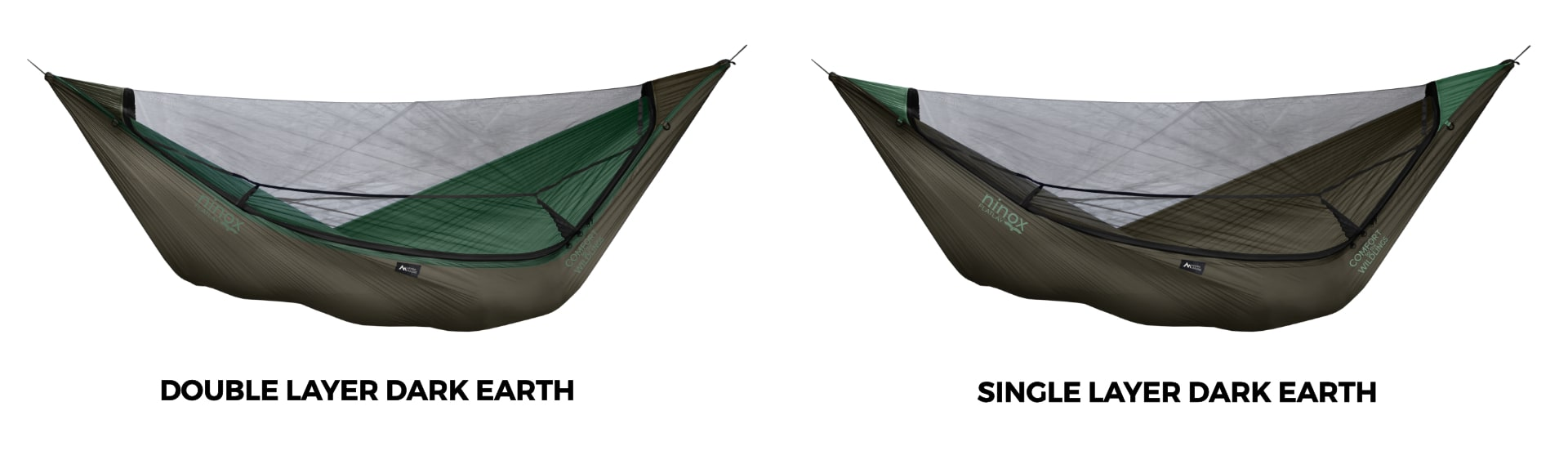 Ninox Double Layer vs. Single Layer Hammock in Dark Earth!