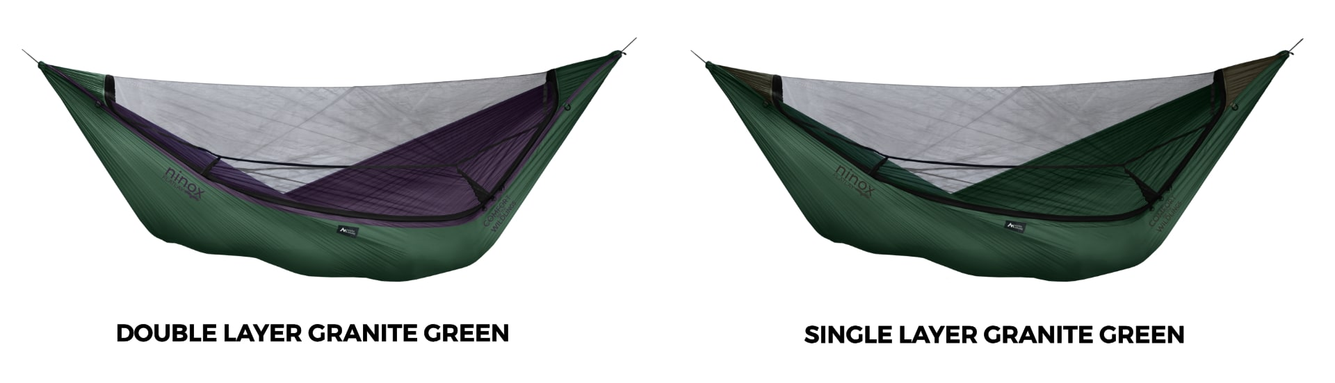 Ninox Double Layer vs. Single Layer Hammock Granite Green!