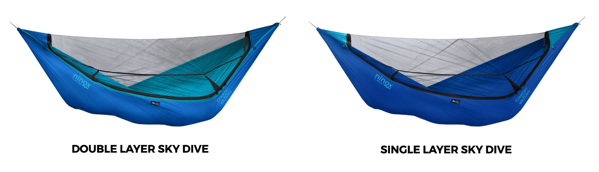 Ninox Double Layer vs. Single Layer Hammock in Sky Dive!