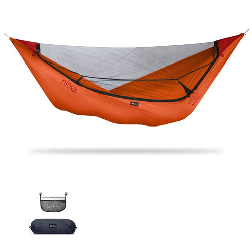 Ninox | Ultra-Comfy & Spacious Flat Lay Camping Hammock Camping System Sierra Madre Research Carrot / No I have suspension already / No I don't mind rain
