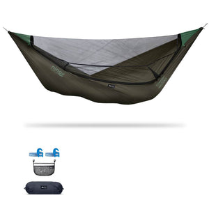 Ninox | Ultra-Comfy & Spacious Flat Lay Camping Hammock Camping System Sierra Madre Research Dark Earth / Yes! I'd love a set! / No I don't mind rain