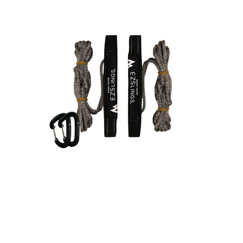EZSlings Suspension Kit | Includes 2 Climb Rated Carabiners for a Knotless Setup