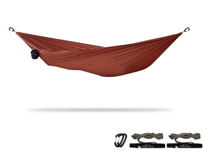 "xPlor | Pocket Camping Hammock for Compact ""Anywhere"" Comfort Hammock Sierra Madre Research Ginger / Yes please"