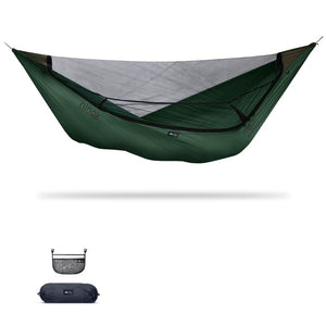 Ninox | Ultra-Comfy & Spacious Flat Lay Camping Hammock Camping System Sierra Madre Research Granite Green / No I have suspension already / No I don't mind rain