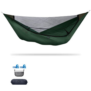 Ninox | Ultra-Comfy & Spacious Flat Lay Camping Hammock Camping System Sierra Madre Research Granite Green / Yes! I'd love a set! / No I don't mind rain