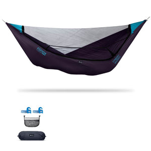 Ninox | Ultra-Comfy & Spacious Flat Lay Camping Hammock Camping System Sierra Madre Research Indigo / Yes! I'd love a set! / No I don't mind rain