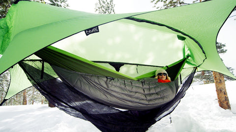The Inferno Under Quilt keeps your back side warm every time you hammock camp in the cold! No drafts and no cold spots! Perfect for winter hammock camping in Colorado!