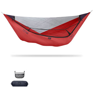 Ninox | Ultra-Comfy & Spacious Flat Lay Camping Hammock Camping System Sierra Madre Research Lava / No I have suspension already / No I don't mind rain