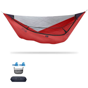 Ninox | Ultra-Comfy & Spacious Flat Lay Camping Hammock Camping System Sierra Madre Research Lava / Yes! I'd love a set! / No I don't mind rain
