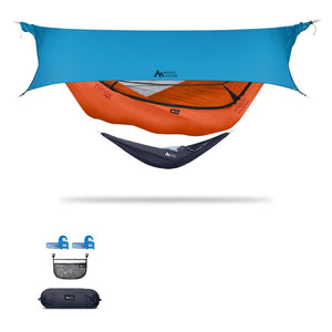 Ninox | Ultra-Comfy & Spacious Flat Lay Camping Hammock Camping System Sierra Madre Research Carrot / Yes! I'd love a set! / Ocean