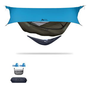 Ninox | Ultra-Comfy & Spacious Flat Lay Camping Hammock Camping System Sierra Madre Research Dark Earth / Yes! I'd love a set! / Ocean