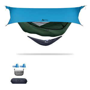 Ninox | Ultra-Comfy & Spacious Flat Lay Camping Hammock Camping System Sierra Madre Research Granite Green / Yes! I'd love a set! / Ocean