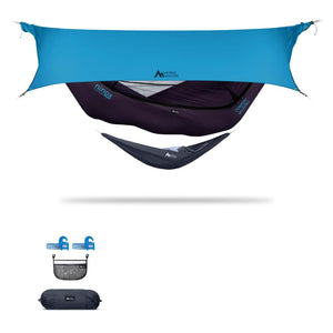 Ninox | Ultra-Comfy & Spacious Flat Lay Camping Hammock Camping System Sierra Madre Research Indigo / Yes! I'd love a set! / Ocean