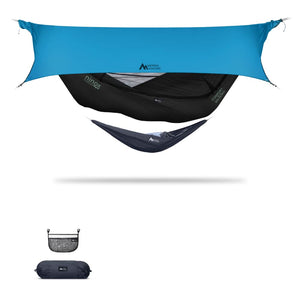 Ninox | Ultra-Comfy & Spacious Flat Lay Camping Hammock Camping System Sierra Madre Research Raven / No I have suspension already / Ocean
