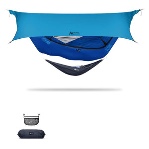 Ninox | Ultra-Comfy & Spacious Flat Lay Camping Hammock Camping System Sierra Madre Research Sky Dive / No I have suspension already / Ocean