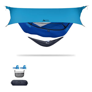 Ninox | Ultra-Comfy & Spacious Flat Lay Camping Hammock Camping System Sierra Madre Research Sky Dive / Yes! I'd love a set! / Ocean