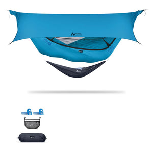 Ninox | Ultra-Comfy & Spacious Flat Lay Camping Hammock Camping System Sierra Madre Research Vivid Blue / Yes! I'd love a set! / Ocean
