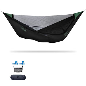 Ninox | Ultra-Comfy & Spacious Flat Lay Camping Hammock Camping System Sierra Madre Research Raven / Yes! I'd love a set! / No I don't mind rain