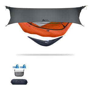 Ninox | Ultra-Comfy & Spacious Flat Lay Camping Hammock Camping System Sierra Madre Research Carrot / Yes! I'd love a set! / Steel Grey