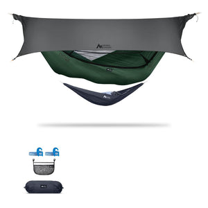 Ninox | Ultra-Comfy & Spacious Flat Lay Camping Hammock Camping System Sierra Madre Research Granite Green / Yes! I'd love a set! / Steel Grey