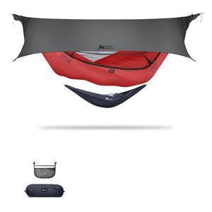 Ninox | Ultra-Comfy & Spacious Flat Lay Camping Hammock Camping System Sierra Madre Research Lava / No I have suspension already / Steel Grey