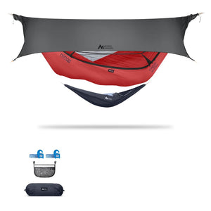 Ninox | Ultra-Comfy & Spacious Flat Lay Camping Hammock Camping System Sierra Madre Research Lava / Yes! I'd love a set! / Steel Grey
