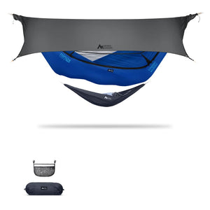Ninox | Ultra-Comfy & Spacious Flat Lay Camping Hammock Camping System Sierra Madre Research Sky Dive / No I have suspension already / Steel Grey