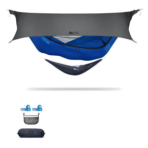 Ninox | Ultra-Comfy & Spacious Flat Lay Camping Hammock Camping System Sierra Madre Research Sky Dive / Yes! I'd love a set! / Steel Grey