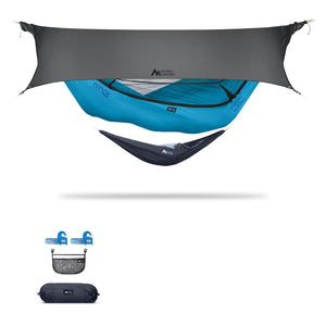 Ninox | Ultra-Comfy & Spacious Flat Lay Camping Hammock Camping System Sierra Madre Research Vivid Blue / Yes! I'd love a set! / Steel Grey