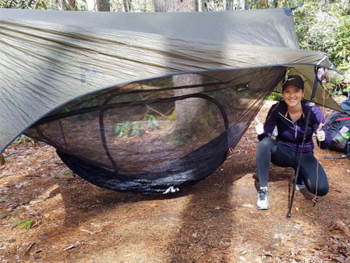 Stratos | Two Part Modular Camping Hammock Protection + Gear Storage