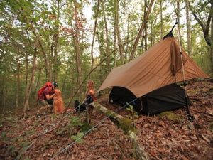 Stratos FLoor. Set up the Stratos Hammock Shelter as a ground tent when trees are not available! Waterproof floor