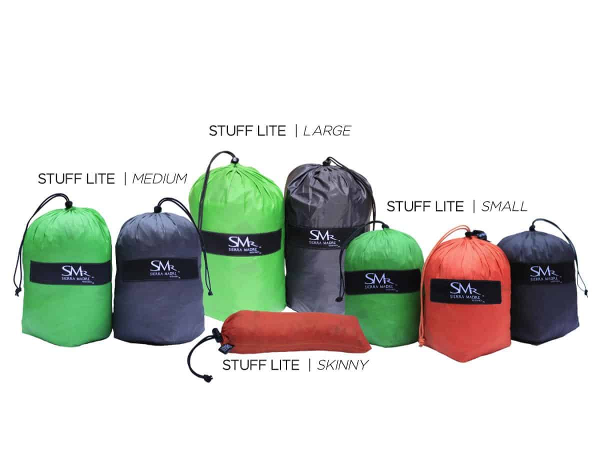 The Stuff Lite stuff sack is great for organization and de-cluttering