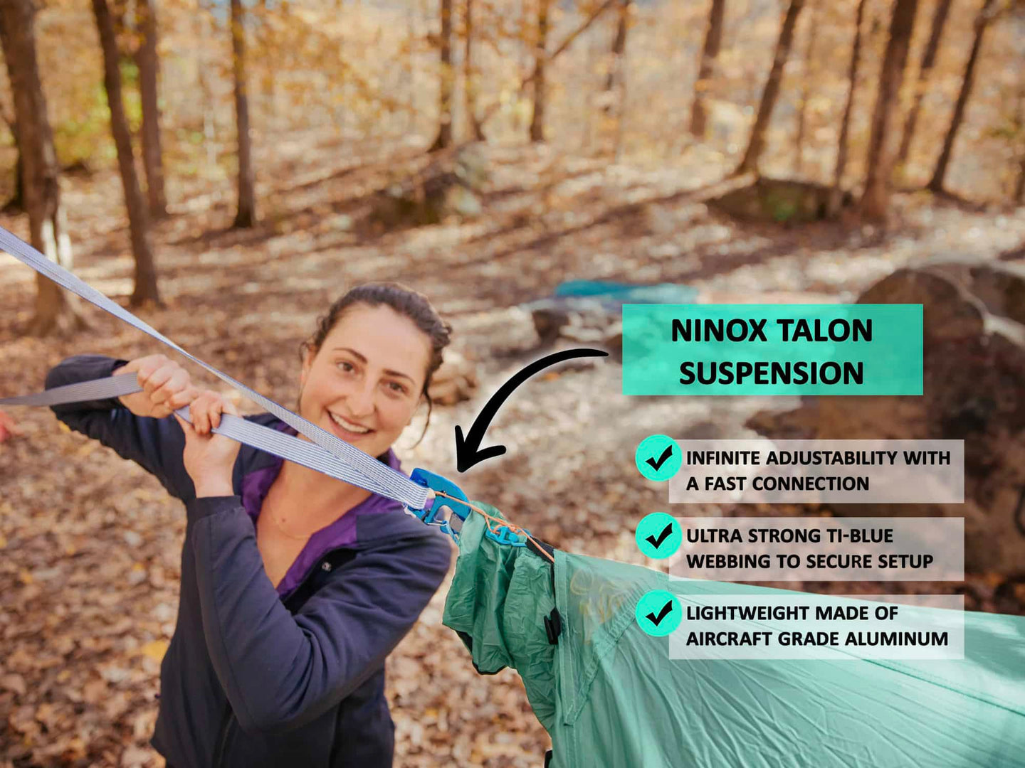 Talon | Infinite Adjustability + Quick Connect Camping Hammock Suspension