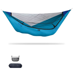 Ninox | Ultra-Comfy & Spacious Flat Lay Camping Hammock Camping System Sierra Madre Research Vivid Blue / No I have suspension already / No I don't mind rain