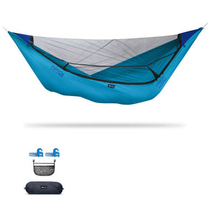 Ninox | Ultra-Comfy & Spacious Flat Lay Camping Hammock Camping System Sierra Madre Research Vivid Blue / Yes! I'd love a set! / No I don't mind rain