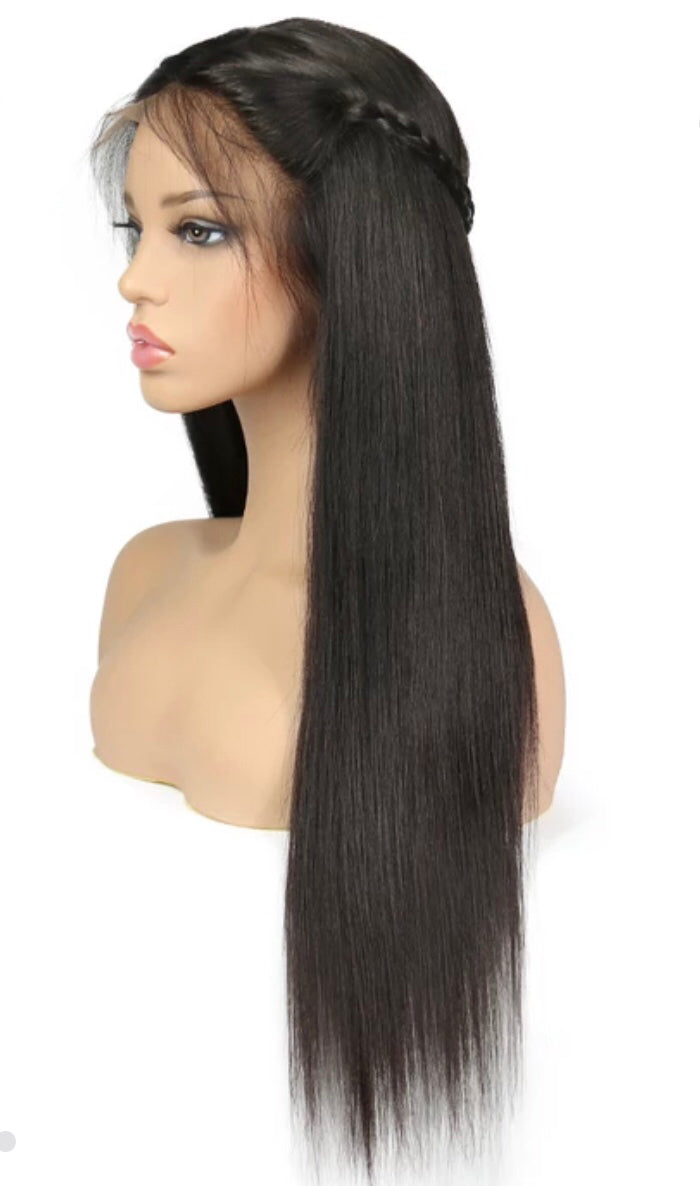 Flawless Natural Hair line Straight Lace Wig