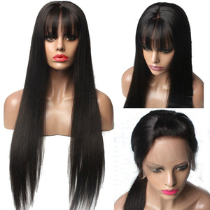 [Premium Collection] Full Lace 200% Density Unit with Bangs