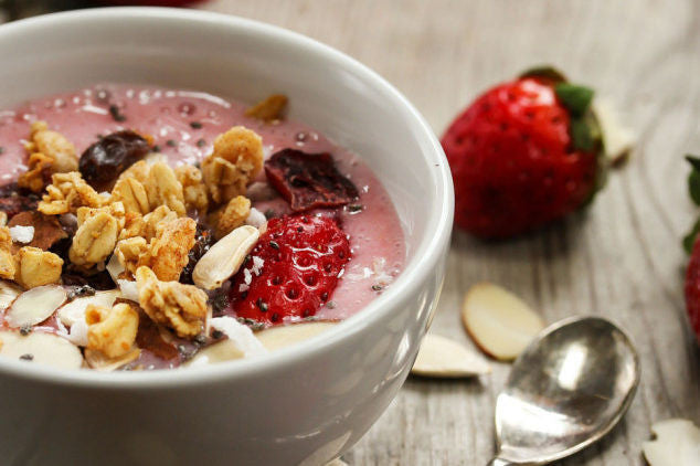 Strawberry Banana Protein Smoothie Bowl