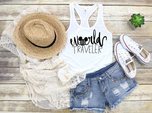 Disney tank top // World Traveler // EPCOT // ladies tank