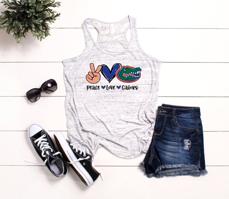 Peace, Love & Gators / Ladies Florida Gators tank