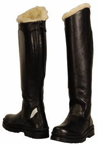 Ladies Tundra Fleece Lined Tall Boots in Synthetic Leather