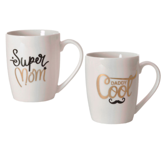 Set skodelic Super Mom & Cool Daddy