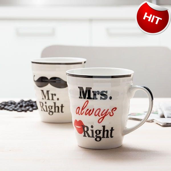 Set skodelic Mr and Mrs always right