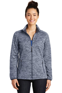 LST30 Sport-Tek® Ladies PosiCharge® Electric Heather Soft Shell Jacket