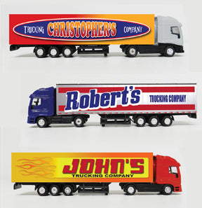 PERSONALIZED TRUCKS, TRAINS, AND KEYCHAINS