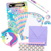 Unicorn Write On Stationery Set
