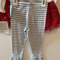 JOY LOVE PEACE 2 PC CHRISTMAS OUTFIT