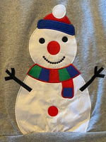 GREY SWEATSHIRT WITH SNOWMAN
