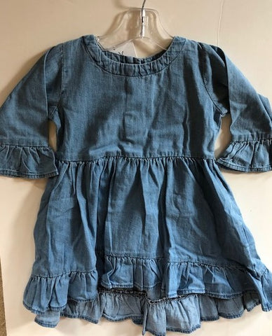 Ruffle Butts Denim High/Low Ruffle Tunic