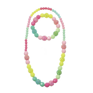 VIVIDLY VIBRANT NECKLACE/BRACELET SET